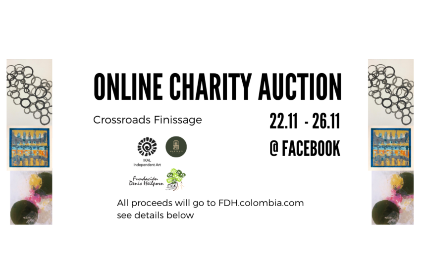Charitable art exhibition for Fundacion DH Colombia